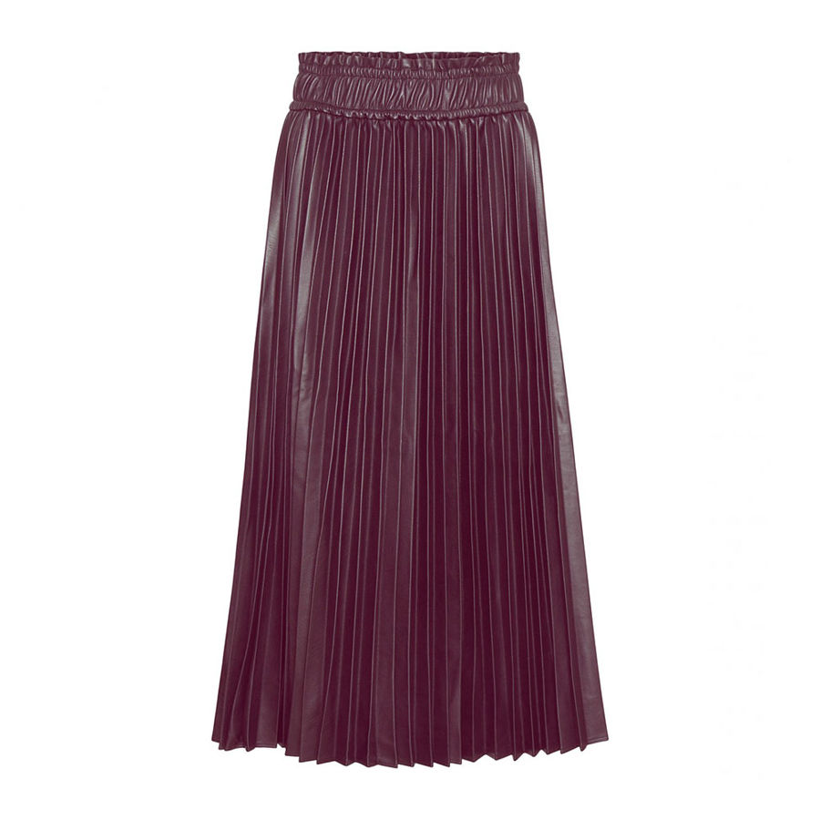 Slika VERO MODA HIGH WAIST PLEATED MIDI SKIRT