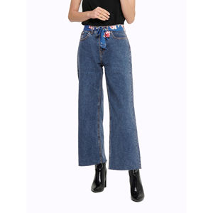 Slika JACQUELINE DE YONG WIDE ANKLE BELTED STRAIGHT FIT JEANS