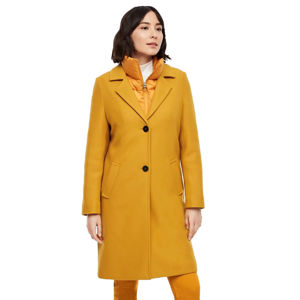 Slika Wool blend coat with piping