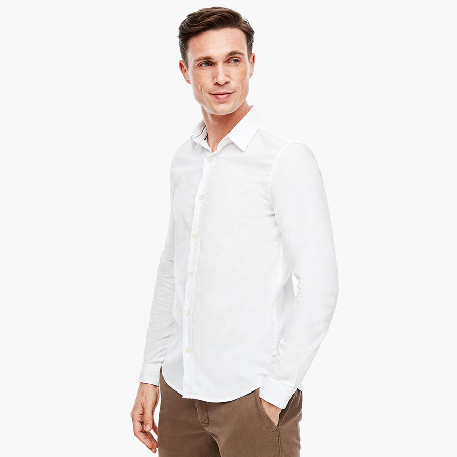 Slika S.OLIVER Slim Fit: Shirt with a textured pattern