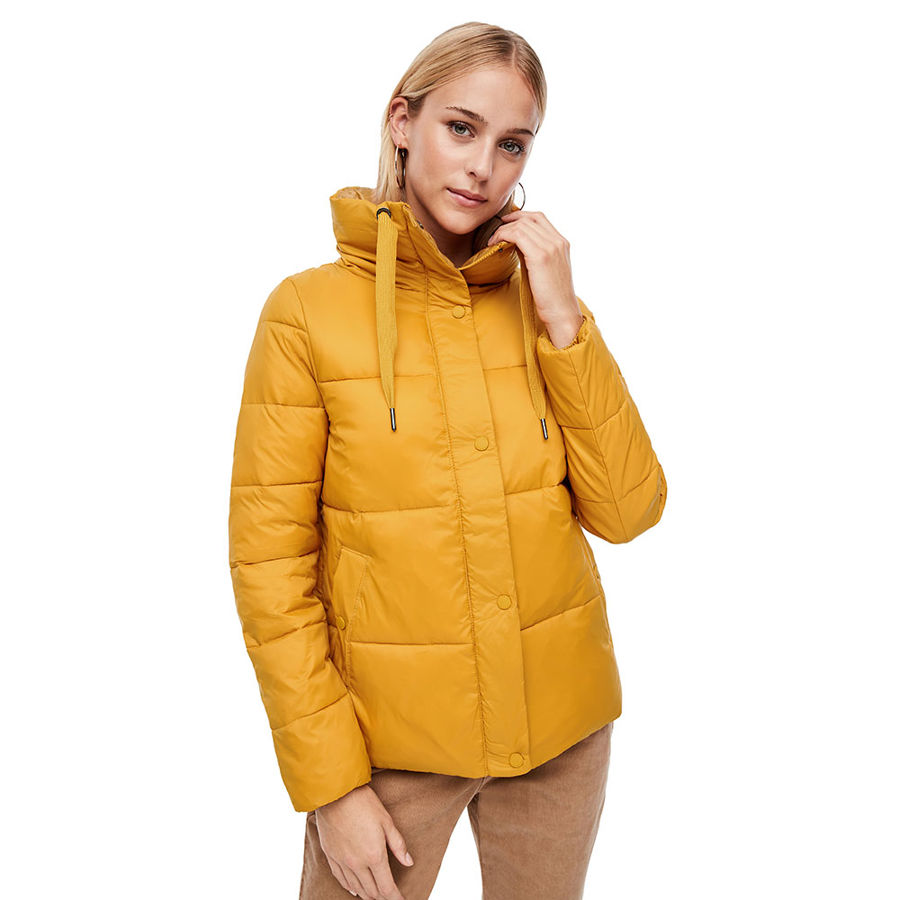 Slika S.OLIVER Quilted jacket with a high collar