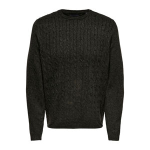 Slika ONLY & SONS CLAUS 9 CABLE MEL KNIT